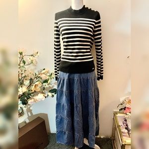 INC International Concept denim maxi skirt
